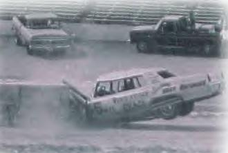 In 1980 at New Smyrna Speedway in Florida, George White put on his head and neck restraint device, strapped himself into a Cadillac and crashed head on into a concrete barrier. Local law enforcement officials in attendance clocked the car at 59 miles per hour