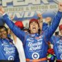 Dario Franchitti wins the PEAK Antifreeze & Motor Oil Indy 300 at Chicagoland Speedway in the IZOD IndyCar Series (Photo Credit: Firestone Racing Photo)