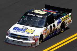 No. 92 BTS Tire and Wheel Distributors / fleetHQ.com Chevrolet Silverado - Photo Credit: Chris Graythen / Getty Images for NASCAR