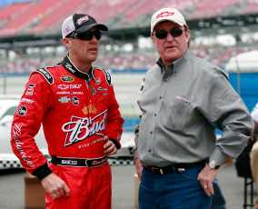 Kevin Harvick with RCR Team Owner Richard Childress - Photo Credit: Tom Pennington/Getty Images for NASCAR