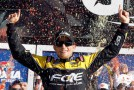 James Buescher celebrates winning - Photo Credit: Todd Warshaw/Getty Images for NASCAR