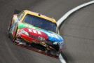 Kyle Busch, driver of the No. 18 M&M's Toyota, drives on track - Photo Credit: Jamie Squire/Getty Images for NASCAR