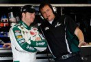 Dale Earnhardt Jr. with Crew Chief Steve Letarte - Photo Credit: Tom Pennington/Getty Images