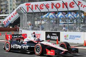 Ryan Briscoe No. 2 Hitachi Team Penske Dallara/Chevrolet/Firestone - Photo Credit: Firestone Racing/Dennis Ashlock