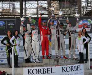 Ryan Dalziel 2012 ALMS Long Beach Podium
