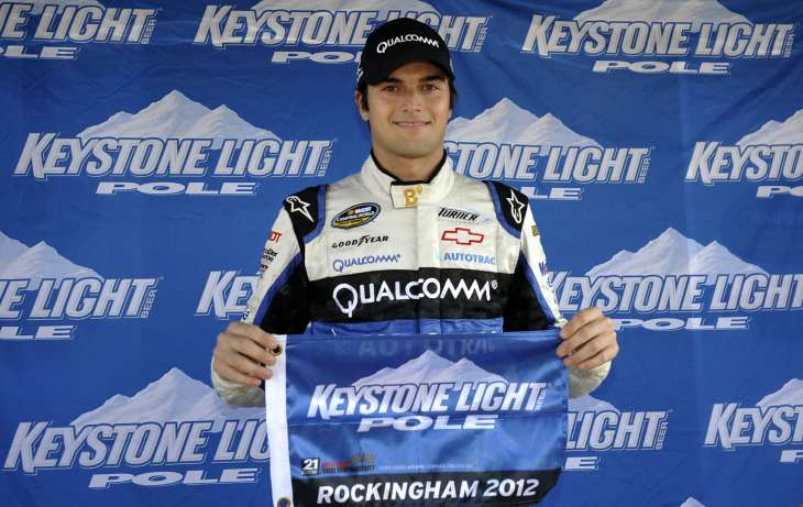 Nelson Piquet, Jr., Captures his First NCWTS Career Keystone Light Pole Award at Rockingham Speedway, - Photo Credit: Rainer Ehrhardt/Getty Images for NASCAR