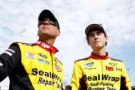 (L-R) NASCAR Sprint Cup Series driver Dave Blaney stands with son Ryan Blaney - Photo Credit: Streeter Lecka/Getty Images for NASCAR