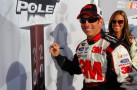 Greg Biffle with Miss Coors Light at the Bojangles' Southern 500 Pole Award Signing - Photo Credit: Geoff Burke, Getty Images for NASCAR