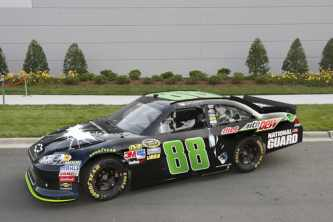 Bane and the Dark Knight to ride on Dale Earnhardt Jr.'s Mountain Dew Chevy