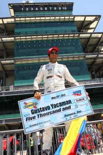 Gustavo Yacaman 2012 Firestone Indy Lights Firestone Freedom 100 Pole Winner - Photo Credit: Chris Jones for IMS