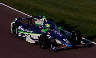Tony Kanaan, in the No. 11 GEICO | MOUSER ELECTRONICS - KV Racing Technology Chevrolet/Firestone