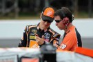 Joey Logano with Crew Chief Jason Ratcliff - Photo Credit: Drew Hallowell/Getty Images