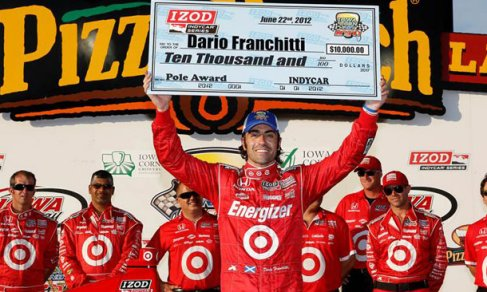 Dario Franchitti Wins the 2012 IZOD IndyCar Series Iowa Corn Indy 250 Pole at Iowa Speedway - Photo Credit: INDYCAR/LAT USA