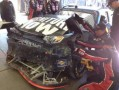 Smith's damaged race car from Sonoma