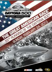 The 55th annual Daytona 500 commemorative ticket as selected by NASCAR race fans. (Credit: Daytona International Speedway)