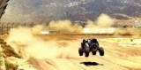 Panther Racing's JR Hildebrand catches air with Robby Gordon - Panther Racing