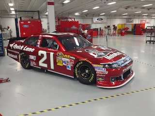 "True Color ""Candy Apple Red"" NSCS No 21 Motorcraft/Quick Lane/Wood Bros. Racing Ford Fusion"