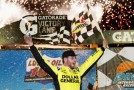 Brian Scott, driver of the #18 Dollar General Toyota, celebrates in victory lane after winning the NASCAR Camping World Truck Series Lucas Oil 150 at Phoenix International Raceway on Nov. 9, 2012, in Avondale, Ariz. - Photo Credit: Tom Pennington/Getty Images for NASCAR