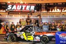 Johnny Sauter, driver of the #13 SealMaster/Curb Records Toyota, celebrates with Texas Motor Speedway President Eddie Gossage in Victory Lane after winning the NASCAR Camping World Truck Series WinStar World Casino 350k at Texas Motor Speedway on November 2, 2012 in Fort Worth, Texas. - Photo Credit: Jerry Markland/Getty Images for NASCAR