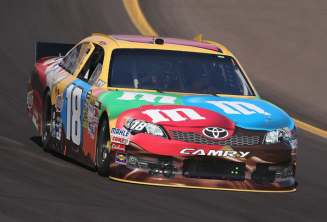 No 18 M&Ms Toyota driven by Kyle Busch On Track at Phoenix - Photo Credit: Christian Petersen/Getty Images