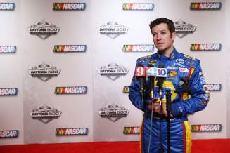 Driver Martin Truex Jr. speaks to the media during 2013 NASCAR media day at Daytona International Speedway on February 14, 2013 in Daytona Beach, Florida. - Photo Credit: Jonathan Ferrey/Getty Images