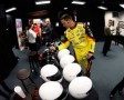 Driver Paul Menard signs helmets during the 2013 NASCAR media day at Daytona International Speedway on February 14, 2013 in Daytona Beach, Florida. - Photo Credit: Jonathan Ferrey/Getty Images