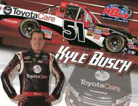 """Rowdy"" and his No. 51 Toyota Care Tundra"