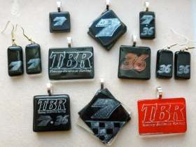 Tommy Baldwin Racing Sports Fashion with Stephanie Calinoff One-of-a-Kind Glass Jewelry