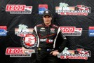 Will Power of Australia, driver of the #12 Verizon Team Penske Dallara Chevrolet poses with the Verizon pole award following qualifying for the IZOD IndyCar Series Honda Grand Prix of St Petersburg on March 23, 2013 in St Petersburg, Florida. - Photo Credit: Chris Trotman/Getty Images