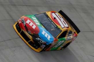Kyle Busch and the No. 18 M&Ms Toyota Camry on Track - Photo Credit: Kevin C. Cox/Getty Images