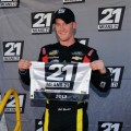 Jeb Burton, driver of the #4 Arrowhead Chevrolet, poses with the Pole award after qualifying for pole position for the NASCAR Camping World Truck Series Kroger 250 on April 5, 2013 at Martinsville Speedway in Ridgeway, Virginia. - Photo Credit: Drew Hallowell/Getty Images