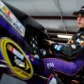 Denny Hamlin, driver of the #11 FedEx Express Toyota, gets in his car - Photo Credit: Jared C. Tilton/Getty Images
