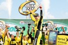 Matt Kenseth, driver of the #20 Dollar General Toyota, celebrates in Victory Lane after winning the NASCAR Sprint Cup Series Quaker State 400 at Kentucky Speedway on June 30, 2013 in Sparta, Kentucky. - Photo Credit: Kevin C. Cox/Getty Images