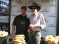 Mike Shillinger serves his winning Kretschmar recipe to Richard Petty