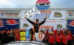 Matt Kenseth, driver of the #20 Home Depot / Husky Toyota, celebrates in Victory Lane after wining the NASCAR Sprint Cup Series Sylvania 300 at New Hampshire Motor Speedway on September 22, 2013 in Loudon, New Hampshire. - Photo Credit: Justin Edmonds/Getty Images