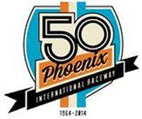 Phoenix International Raceyway 50th Anniversary Logo