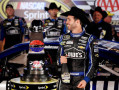 Jimmie Johnson, driver of the #48 Lowe's Chevrolet, celebrates in victory lane with champagne after winning the NASCAR Sprint Cup Series AAA Texas 500 at Texas Motor Speedway on November 3, 2013 in Fort Worth, Texas. - Photo Credit: Chris Graythen/Getty Images