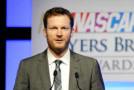 NASCAR Sprint Cup Series driver Dale Earnhardt Jr. speaks onstage after winning the Most Popular Driver at the NASCAR NMPA Myers Brothers Awards Luncheon at the Encore Las Vegas on December 5, 2013 in Las Vegas, Nevada. - Photo Credit: Jared C. Tilton/NASCAR via Getty Images