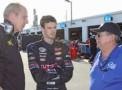 Team BCR owner Howard Bixman, driver Justin Allison and Donnie Allison