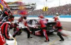 Kurt Busch, driver of the #41 Haas Automation Chevrolet, makes a pit stop - Photo Credit: Jonathan Ferrey/Getty Images