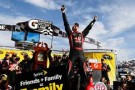 Kurt Busch, driver of the #41 Haas Automation Chevrolet, celebrates in Victory Lane after winning the NASCAR Sprint Cup Series STP 500 at Martinsville Speedway on March 30, 2014 in Martinsville, Virginia. - Photo Credit: Jeff Zelevansky/Getty Images