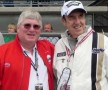 CatchFence's Paul Powell (L) with Jim Nabors (R) at Indianapolis Motor Speedway in 2013