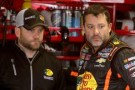 Tony Stewart, driver of the #14 Mobil 1/Bass Pro Shops Chevrolet, speaks with his crew chief Chad Johnston. - Photo Credit: Jerry Markland/Getty Images
