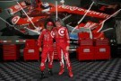 (R) Scott Dixon of New Zealand driver of the #9 Target Chip Ganassi Racing Chevrolet and (L) Tony Kanaan of Brazil driver of the #10 Target Chip Ganassi Racing Chevrolet - Photo Credit: Chris Trotman/Getty Images