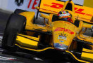 2014 VICS Driver Ryan Hunter-Reay on track in the No. 28 DHL Dallara Firestone Honda at Long Beach - Photo Credit; Robert Laberge/Getty Images