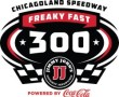 Jimmy John's Freaky Fast 300 Powered by Coca-Cola Logo