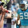 Music megastar Darius Rucker will sing the national anthem for the NASCAR Sprint All-Star Race, while Carolina Panther star Luke Kuechly will serve as Honorary Pace Car Driver. (Darius Rucker: CMS/HHP photo; Luke Kuechly: Carolina Panthers photo)