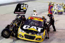 2014 NSCS Driver Ryan Newman pits the No. 31 Caterpillar Chevrolet SS - Photo Credit: Jerry Markland/Getty Images