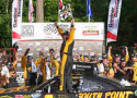 Brendan Gaughn, driver of the #62 South Point Chevrolet, celebrates winning the Gardner Denver 200 Fired Up by Johnsonville race at Road America on June 21, 2014 in Elkhart Lake, Wisconsin. - Photo Credit: Jonathan Daniel/Getty Images