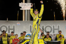 Kyle Busch, driver of the #51 Dollar General Toyota, celebrates in victory lane after winning the NASCAR Camping World Truck Series UNOH 225 at Kentucky Speedway on June 26, 2014 in Sparta, Kentucky. - Photo Credit: Rainier Ehrhardt/Getty Images